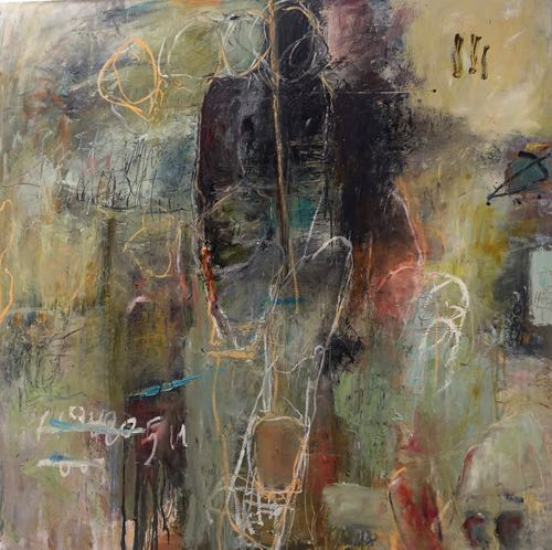 "Abstract Painter Bonney Goldstein ""Grab A Seat"""
