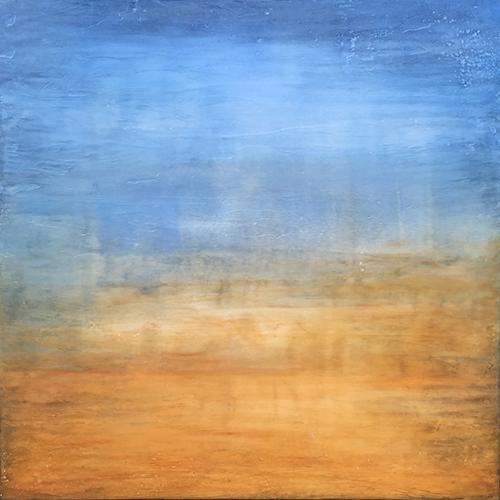 Encaustic Landscape By Boston Artist Linda Cordner