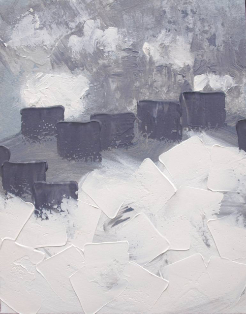 Affordable Artwork Snowy Landscape Painting Abstract