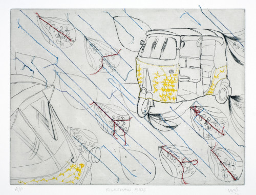 Rickshaw Print By Vani Sayeed