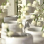 Sunday Bouquet: Sweet White Blossoms in Farmhouse Pottery