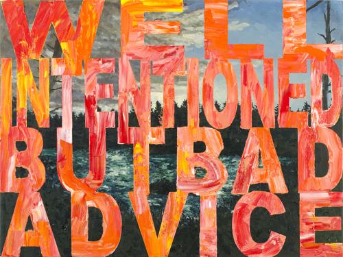 Text Art By Joe Wardwell At MassArt Auction