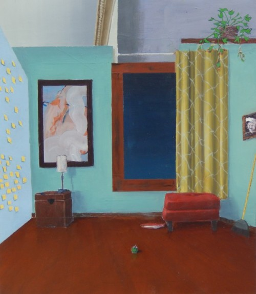 Artist Kyle Utter's Interior Oil Paintings at The Road Gallery