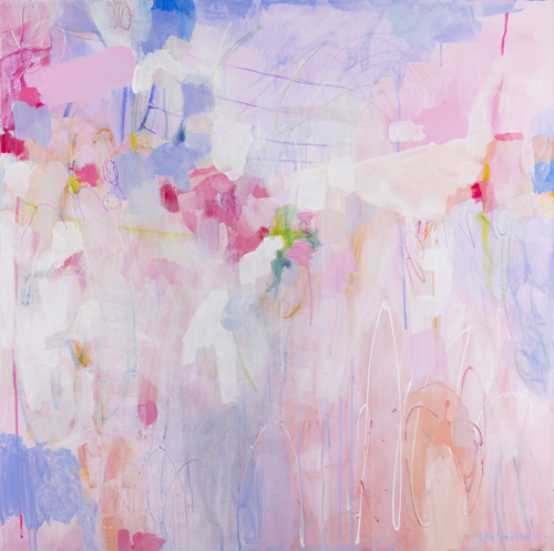Floral Abstract By Northern California Artist Ellen Levine Dodd at Serena & Lily