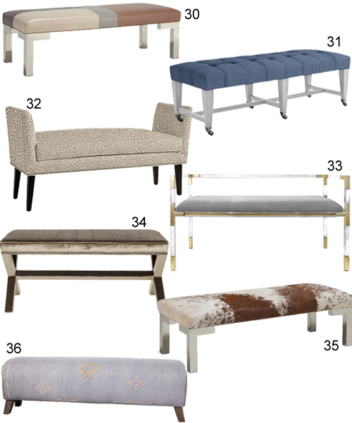 Modern Upholstered Benches For The Bedroom