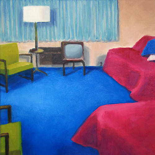 Motel Room Murder Scene Paintings By Airco Caravan