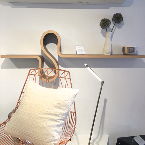 Copper Chair By Bend Goods Bent Wood Shelf