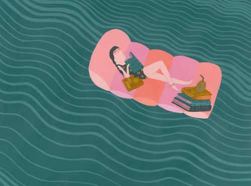 Raft Pool Illustration Laura Berger
