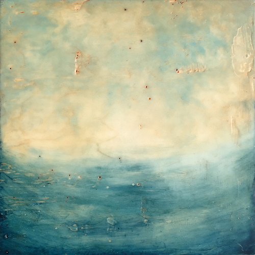 Abstract Encaustic By Boston Artist Linda Cordnor