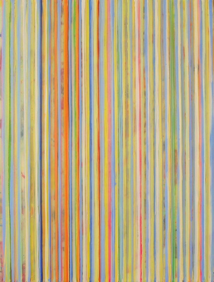 Striped Abstract Painting Taffy By Boston Artist Maureen Holub