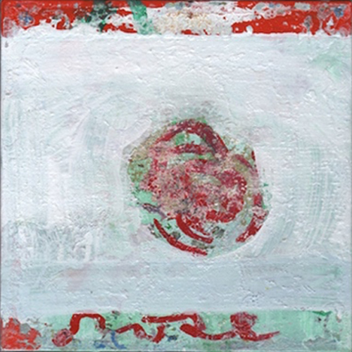 Small Abstract Painting By Portland Maine Artist MP Landis