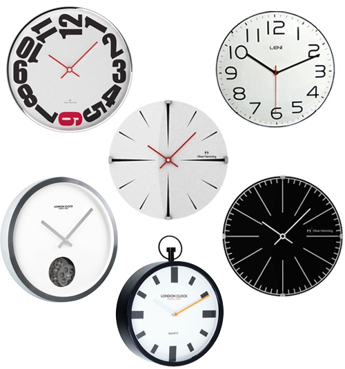 Modern Black & White Wall Clocks