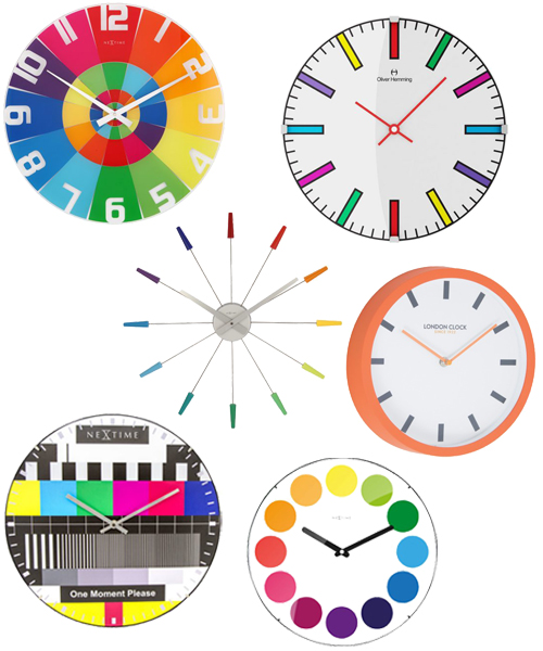 Modern Multicolor Wall Clocks
