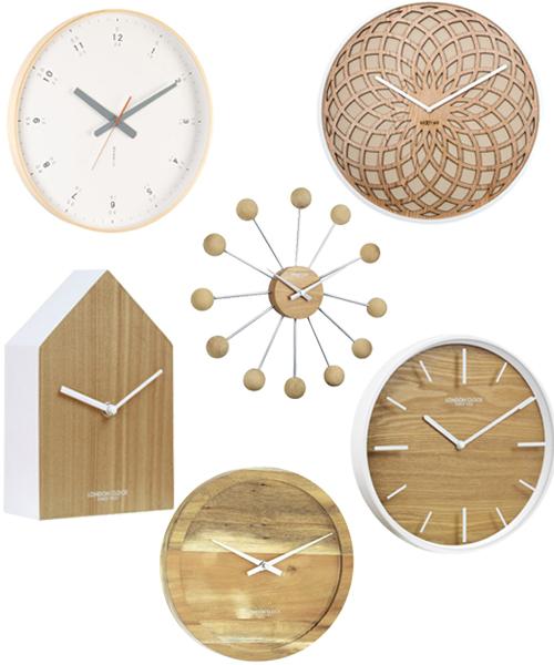 Modern Scandinavian Style Wall Clocks