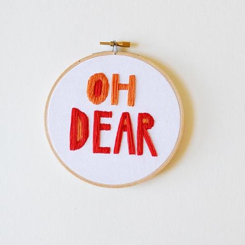 Embroidery Hoop Art By Sarah K Benning