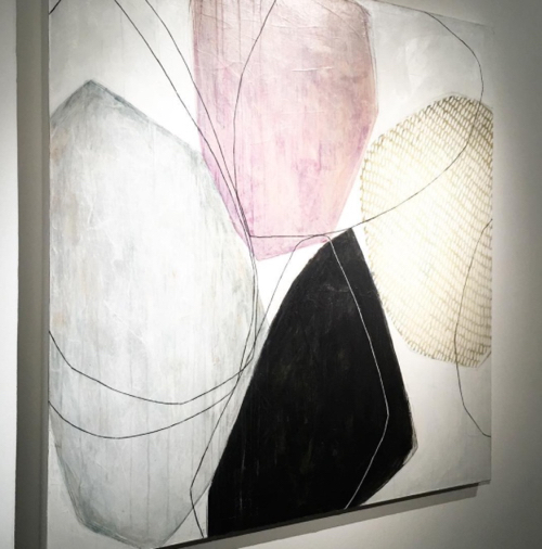 Abstract Painting By Karine Leger At Lanoue Gallery
