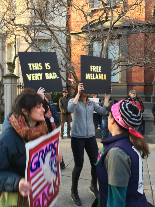 Free Melania Boston Women's March Sign