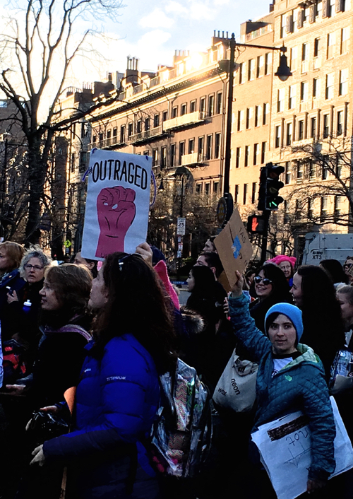 Empowering Signs At The Boston Women's March