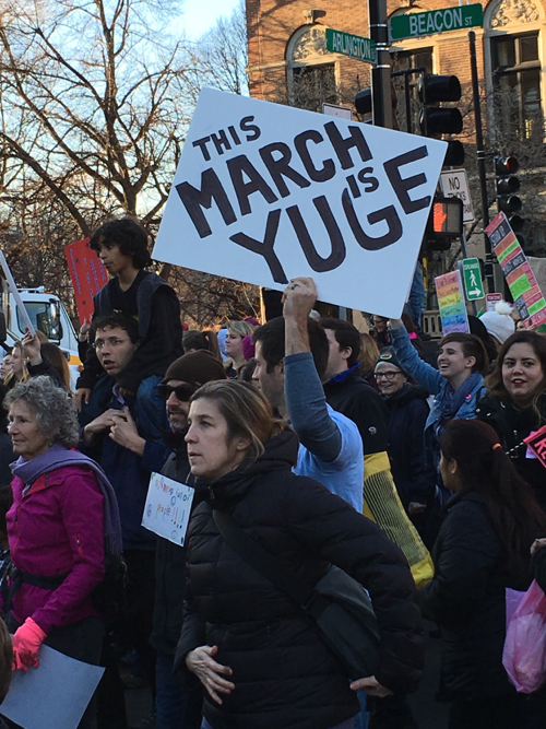 Boston Women's March Sign This March Is Yuge