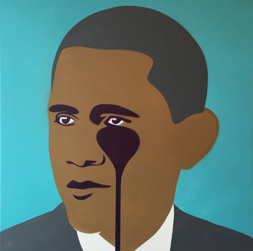 Pop Art Portrait Of President Barack Obama