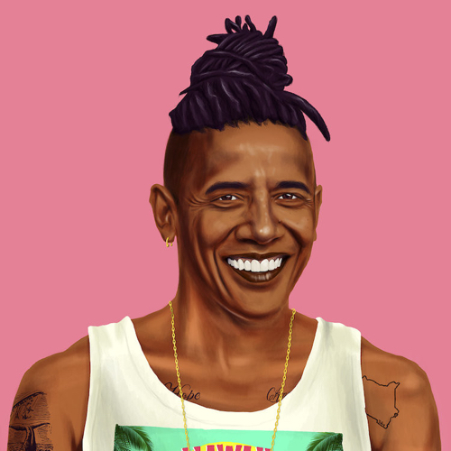 Portrait Of President Barack Obama By Amit Shimoni