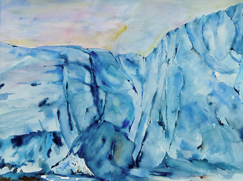 Arctic Landscape Paintings By Lisa Goren