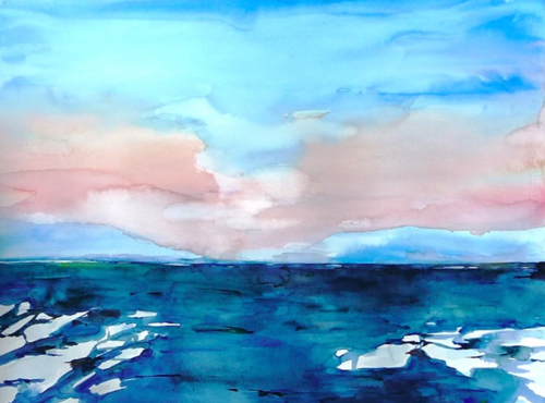 Arctic Watercolor Landscape Painting Lisa Goren