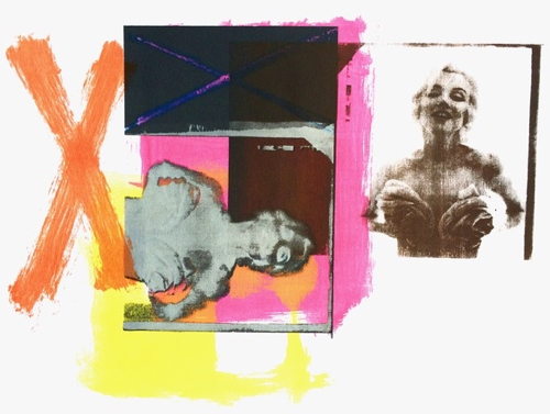 Abstract Collage With Marilyn Monroe at MassArt Auction