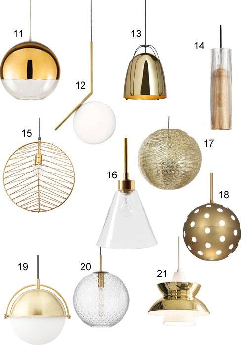 Modern Brass Pendant Lights Update Your Decor