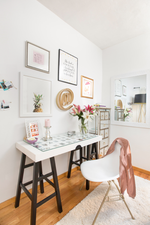 Teen Blogger Alexa Curtis' Apartment Makeover - Work Space