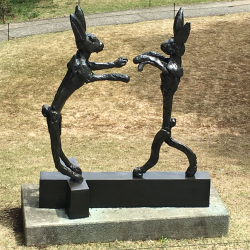 Two Hares Sculpture in Hakone Japan