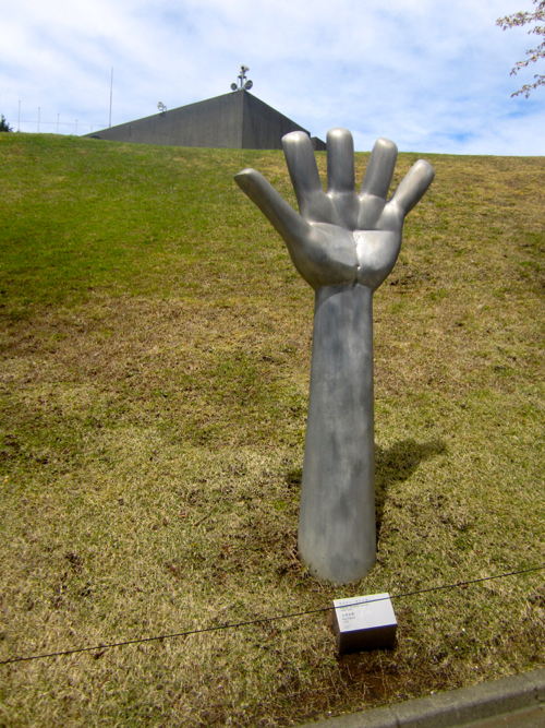 Hand Sculpture At Hakone Open-Air Museum In Japan