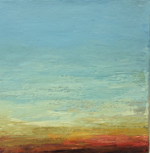 Boston Artist Maria Malatesta Abstract Landscape Painting