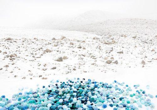 Blue Whiteout By Deborah Hamon Fraction Holiday Print Sale