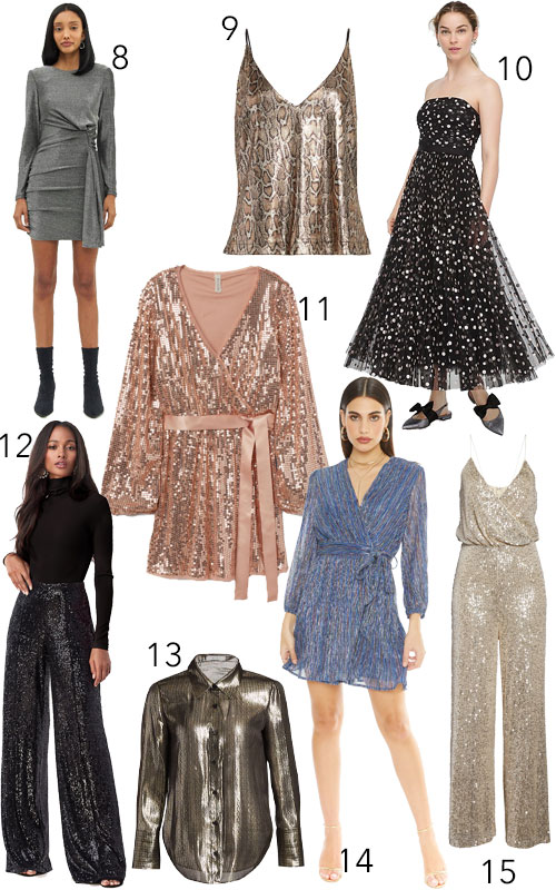 Sparkly Glitter Sequin Holiday New Year's Dresses