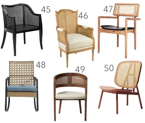 Modern Cane Dining Chair Lounge Chair