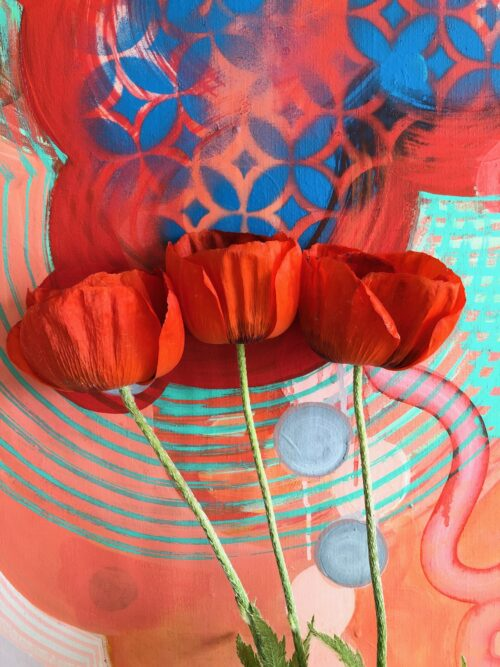 Red-Flowers-Sarah-Lutz-Painting