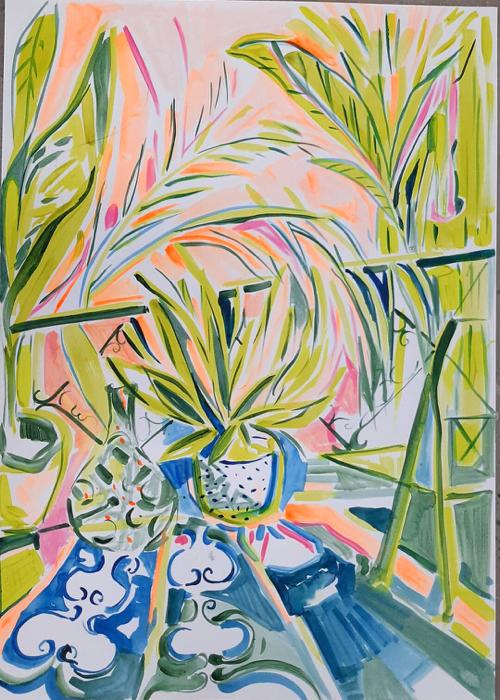 Emi Avori Bohemian Plant Painting