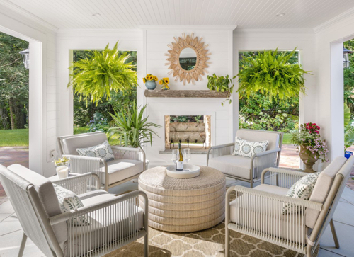 Covered Patio Outdoor Fireplace Outdoor Room