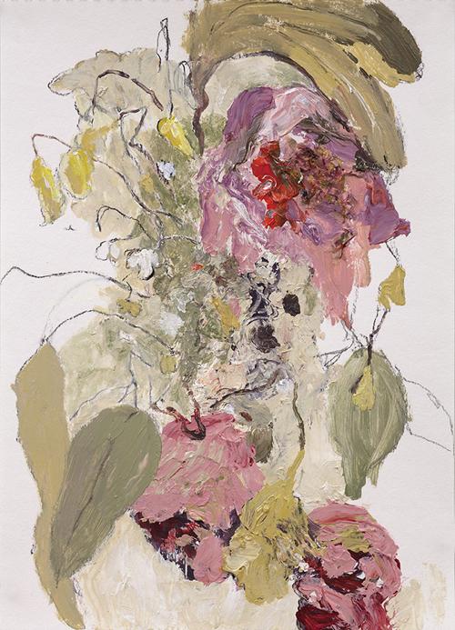Dripping Flower Paintings Boston Art Gallery