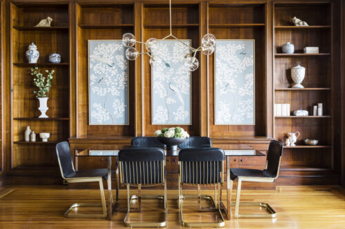 Arazi Levine Dining Room WIth Chinoiserie Artwork