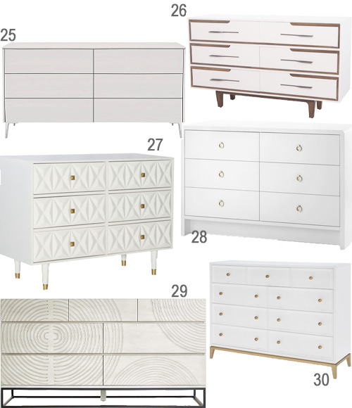 Modern Bedroom Furniture White Dressers