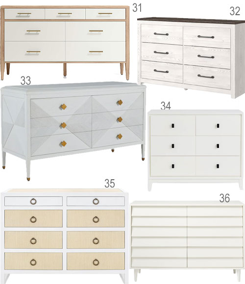 Modern White And Wood Dressers Bedroom Furniture