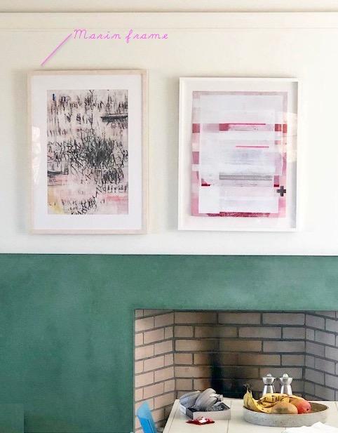 Framebridge Marin Frame Over Fireplace