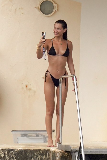 STYLECASTER | Bella Hadid Black Bikini
