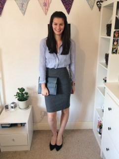 Look 3: M&S chambray shirt, Matt & Nat bag, black heels from eBay