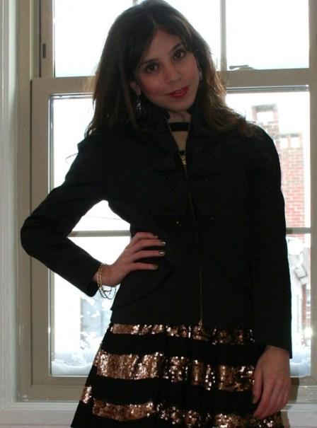 petite jacket_sequin skirt