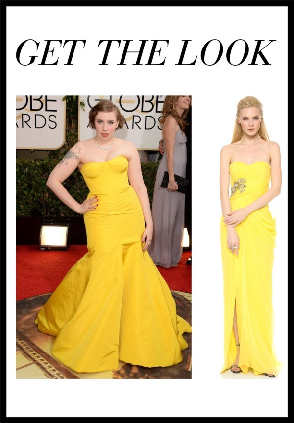 lena dunham golden globes dress