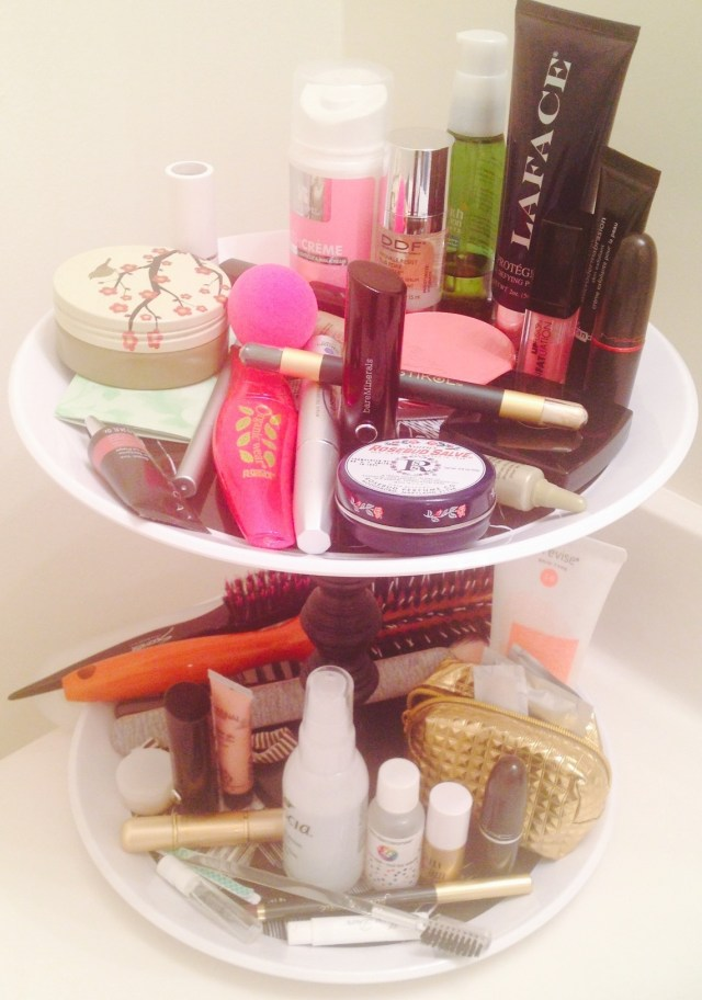 diy makeup stand_how-to