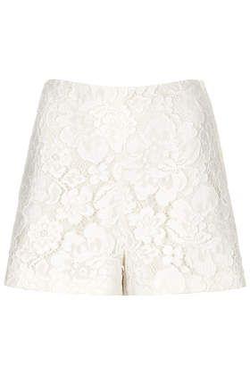 lace shorts topshop
